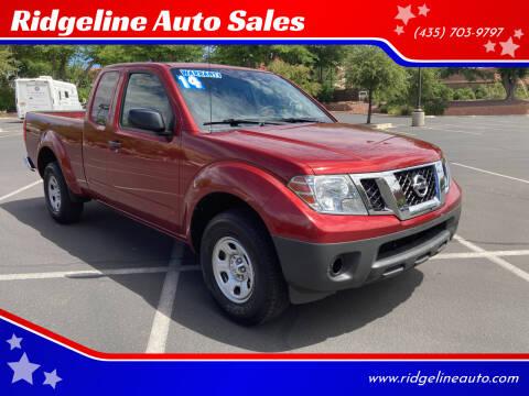 2014 Nissan Frontier for sale at Ridgeline Auto Sales in Saint George UT