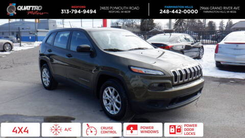 2015 Jeep Cherokee for sale at Quattro Motors 2 - 1 in Redford MI