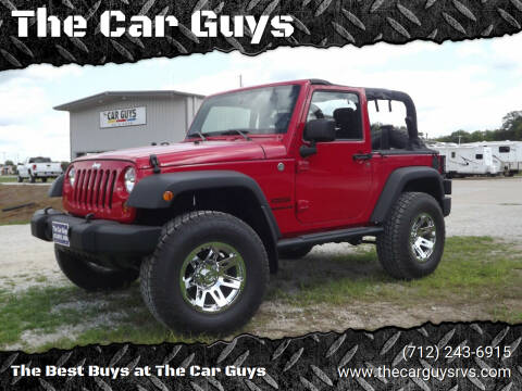2013 Jeep Wrangler for sale at The Car Guys in Atlantic IA