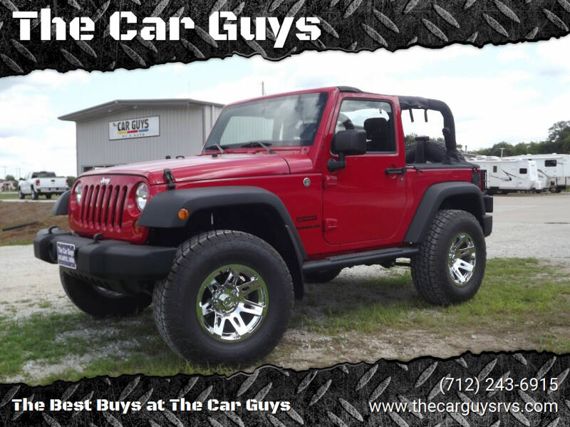 2013 Jeep Wrangler for sale at The Car Guys RV & Auto in Atlantic IA
