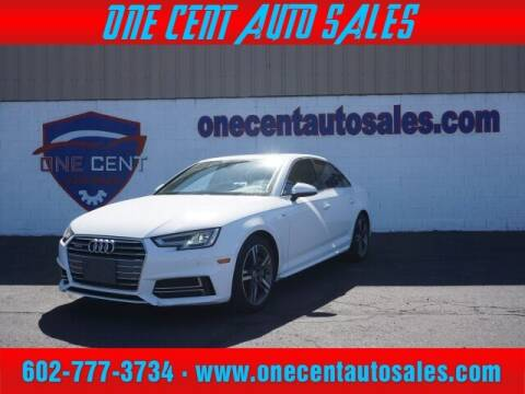 2018 Audi A4 for sale at One Cent Auto Sales in Glendale AZ