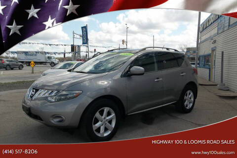 2009 Nissan Murano for sale at Highway 100 & Loomis Road Sales in Franklin WI