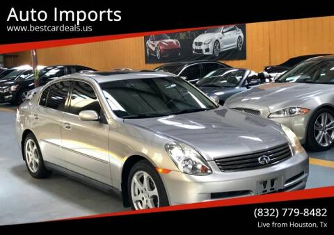 2004 Infiniti G35 for sale at Auto Imports in Houston TX