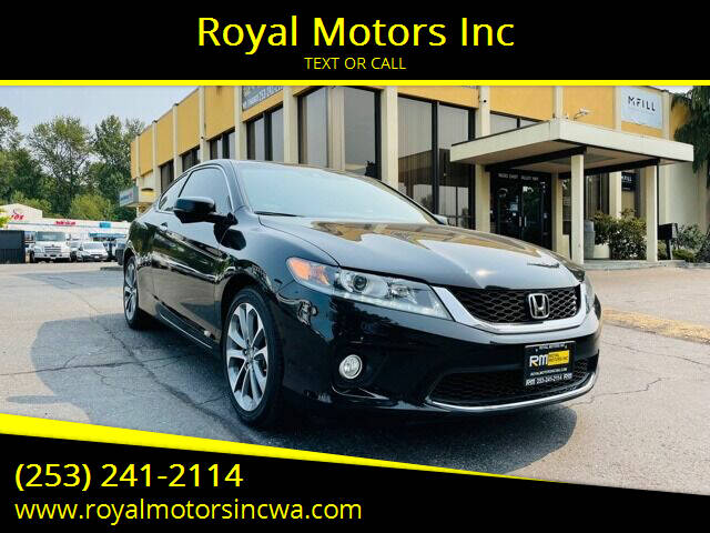 2015 Honda Accord for sale at Royal Motors Inc in Kent WA