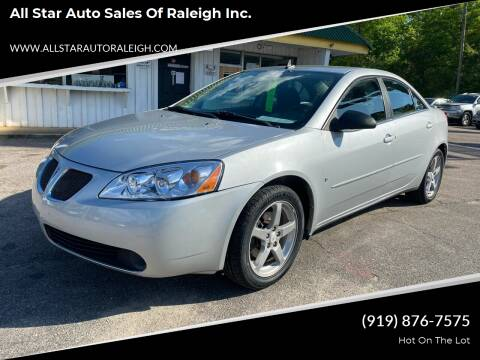 2009 Pontiac G6 for sale at All Star Auto Sales of Raleigh Inc. in Raleigh NC