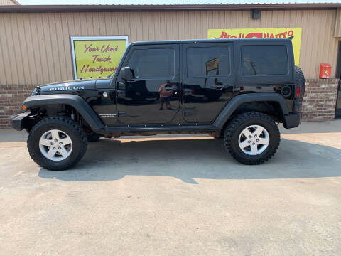 2011 Jeep Wrangler Unlimited for sale at BIG 'S' AUTO & TRACTOR SALES in Blanchard OK