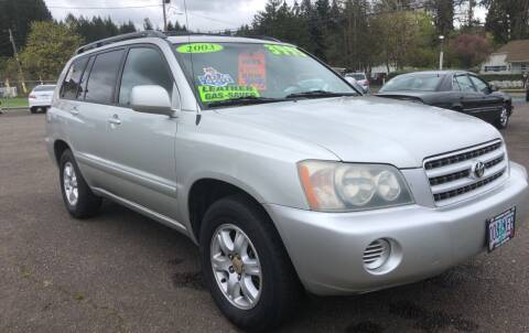 2003 Toyota Highlander for sale at Freeborn Motors in Lafayette, OR