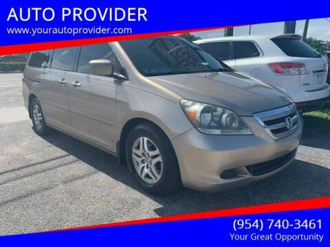 2006 Honda Odyssey for sale at AUTO PROVIDER in Fort Lauderdale FL