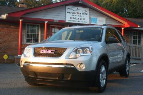 2011 GMC Acadia for sale at Peach State Motors Inc in Acworth GA