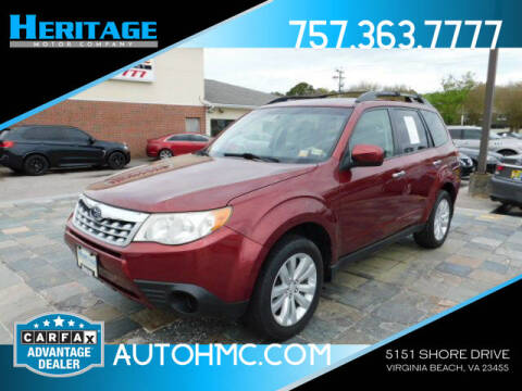 2011 Subaru Forester for sale at Heritage Motor Company in Virginia Beach VA