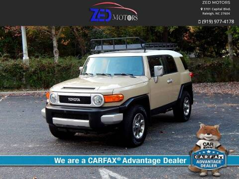 2011 Toyota FJ Cruiser for sale at Zed Motors in Raleigh NC