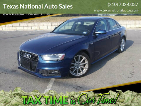 2014 Audi A4 for sale at Texas National Auto Sales in San Antonio TX