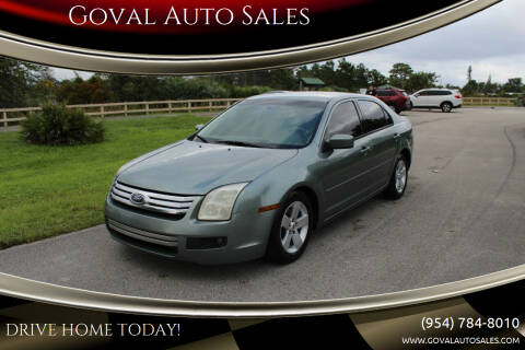 2006 Ford Fusion for sale at Goval Auto Sales in Pompano Beach FL