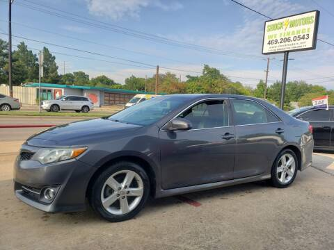 2012 Toyota Camry for sale at Shock Motors in Garland TX
