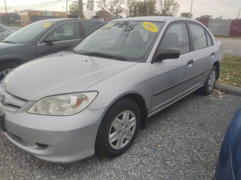 2005 Honda Civic for sale at Mr E's Auto Sales in Lima OH