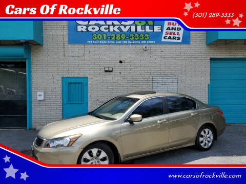 2008 Honda Accord for sale at Cars Of Rockville in Rockville MD