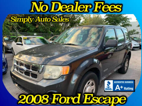 2008 Ford Escape for sale at Simply Auto Sales in Palm Beach Gardens FL