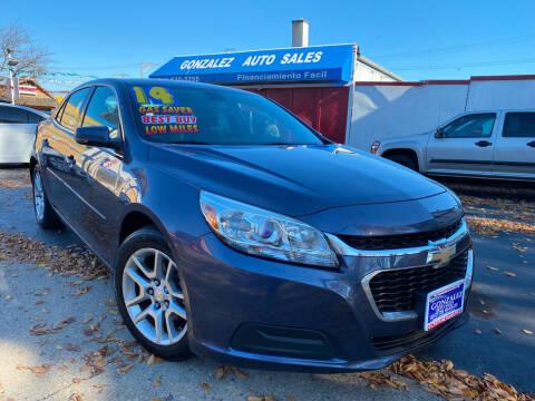2014 Chevrolet Malibu for sale at Gonzalez Auto Sales in Joliet IL