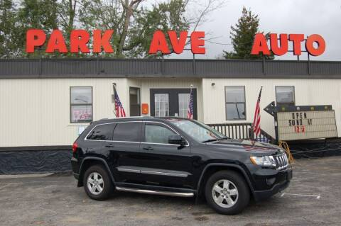 2012 Jeep Grand Cherokee for sale at Park Ave Auto Inc. in Worcester MA
