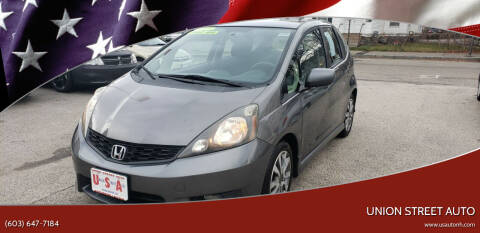 2012 Honda Fit for sale at Union Street Auto in Manchester NH