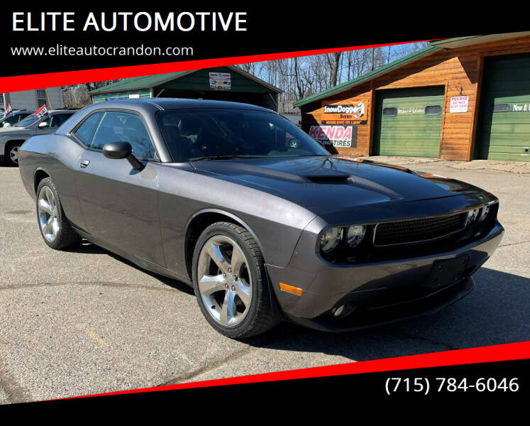 2013 Dodge Challenger for sale at ELITE AUTOMOTIVE in Crandon WI