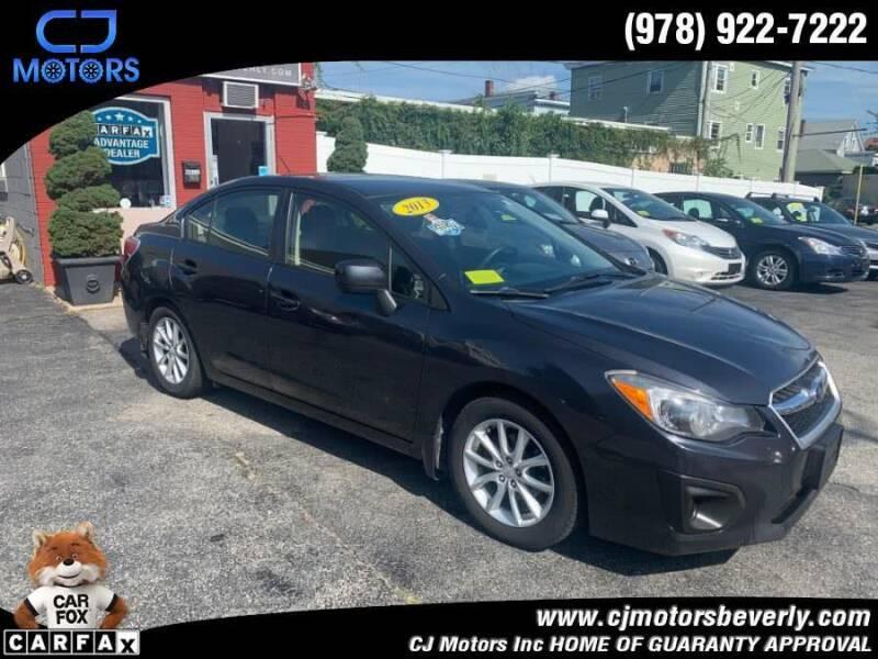 2013 Subaru Impreza for sale at CJ Motors Inc. in Beverly MA