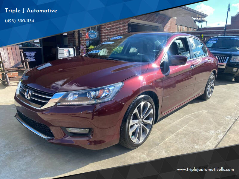 2015 Honda Accord for sale at Triple J Automotive in Erwin TN