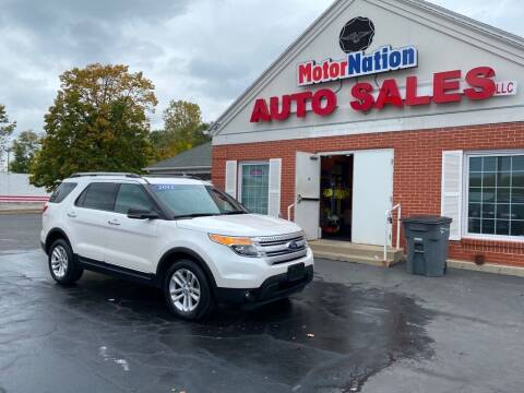 2012 Ford Explorer for sale at Motornation Auto Sales in Toledo OH