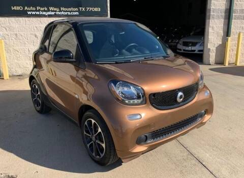 2016 Smart fortwo for sale at KAYALAR MOTORS Mechanic in Houston TX