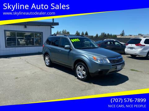 2009 Subaru Forester for sale at Skyline Auto Sales in Santa Rosa CA