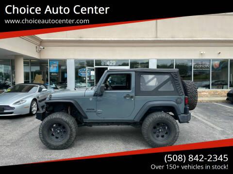 2015 Jeep Wrangler for sale at Choice Auto Center in Shrewsbury MA