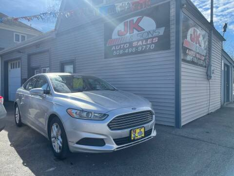 2014 Ford Fusion for sale at JK & Sons Auto Sales in Westport MA