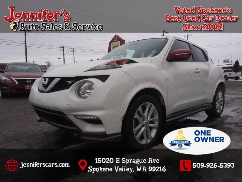 2015 Nissan JUKE for sale at Jennifer's Auto Sales in Spokane Valley WA