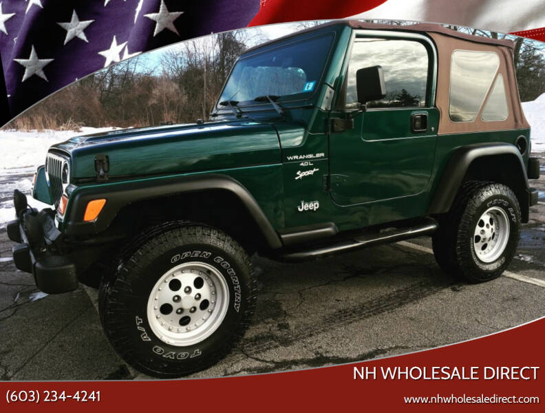 1998 Jeep Wrangler for sale at NH WHOLESALE DIRECT in Derry NH