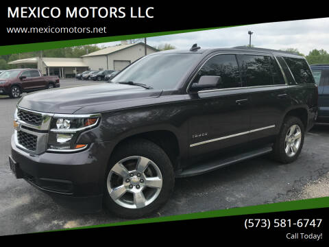 2015 Chevrolet Tahoe for sale at MEXICO MOTORS LLC in Mexico MO