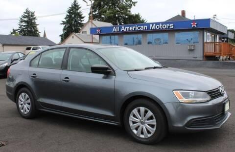 2014 Volkswagen Jetta for sale at All American Motors in Tacoma WA