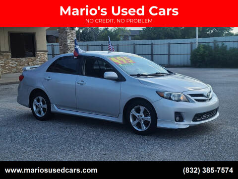 2012 Toyota Corolla for sale at Mario's Used Cars - Pasadena Location in Pasadena TX