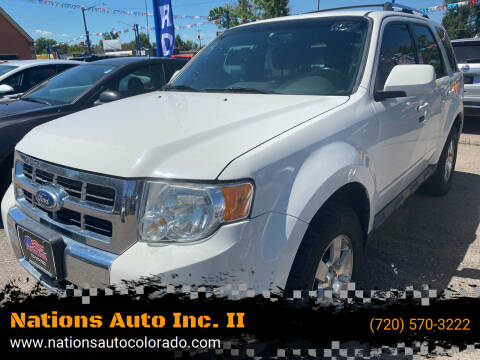 2012 Ford Escape for sale at Nations Auto Inc. II in Denver CO