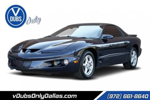 2000 Pontiac Firebird for sale at VDUBS ONLY in Dallas TX