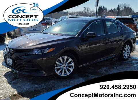 2018 Toyota Camry for sale at CONCEPT MOTORS INC in Sheboygan WI