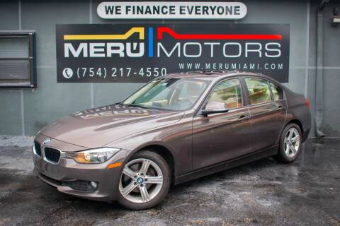 2014 BMW 3 Series for sale at Meru Motors in Hollywood FL