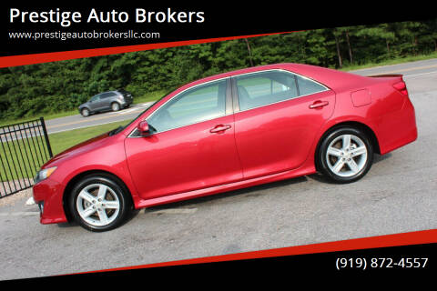 2013 Toyota Camry for sale at Prestige Auto Brokers in Raleigh NC