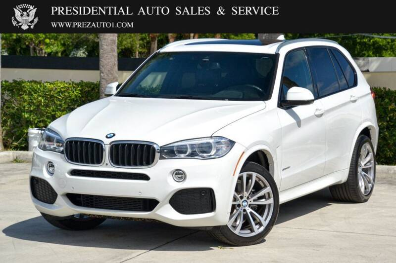 2017 BMW X5 for sale at Presidential Auto  Sales & Service in Delray Beach FL