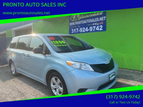 2015 Toyota Sienna for sale at PRONTO AUTO SALES INC in Indianapolis IN