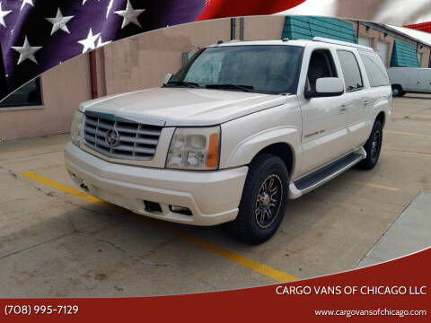 2004 Cadillac Escalade ESV for sale at Cargo Vans of Chicago LLC in Mokena IL