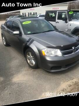 2012 Dodge Avenger for sale at Auto Town Inc in Brentwood NH