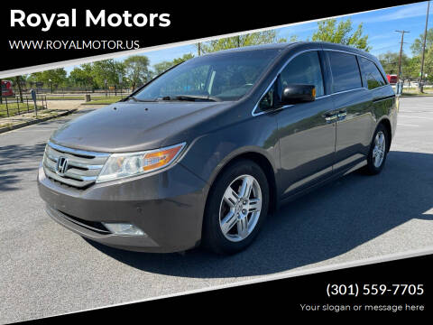 2013 Honda Odyssey for sale at Royal Motors in Hyattsville MD