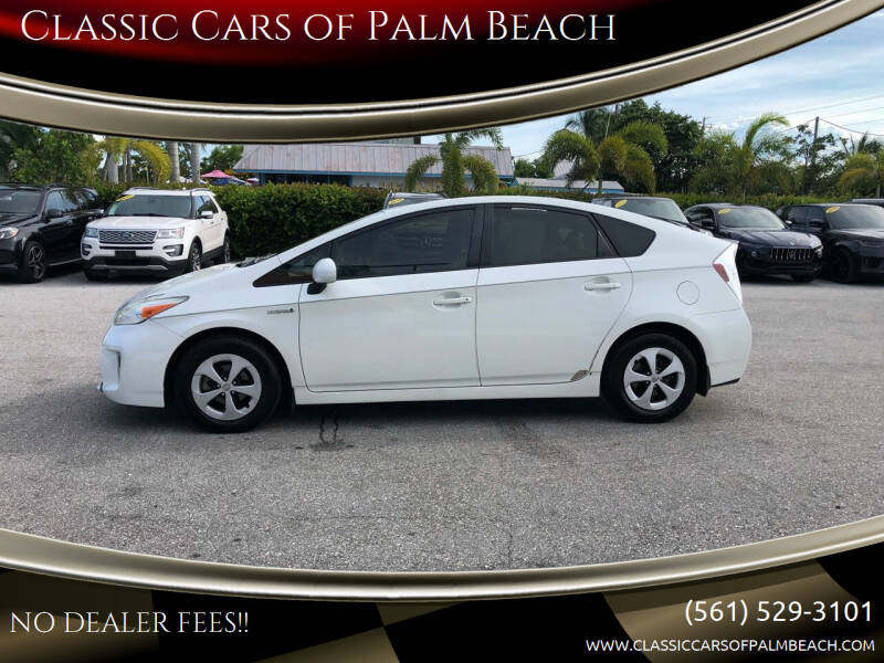 2012 Toyota Prius for sale at Classic Cars of Palm Beach in Jupiter FL