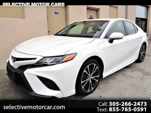 2018 Toyota Camry for sale at Selective Motor Cars in Miami FL