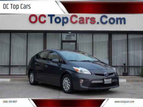 2015 Toyota Prius Plug-in Hybrid for sale at OC Top Cars in Irvine CA